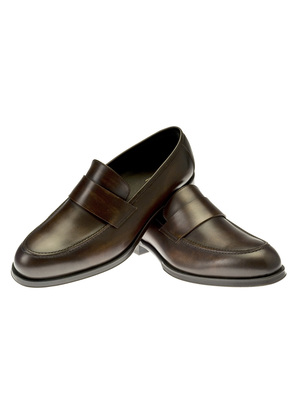 Belsire Brown Piero Leather Loafers