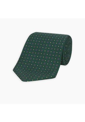The Great Gatsby Green Printed Silk Tie