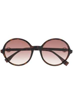 Fendi Eyewear gradient round sunglasses - Brown