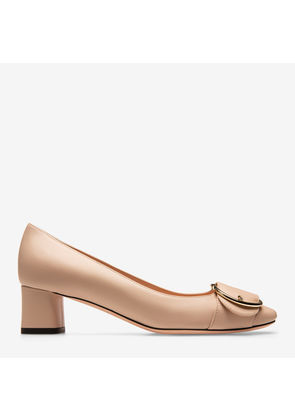 Bally Clarie Neutral, Women's calf leather pump with 45mm heel in skin