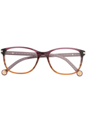 Ch Carolina Herrera gradient rectangular glasses - Pink
