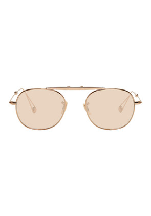Garrett Leight Rose Gold Van Buren Sunglasses