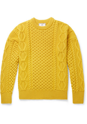 AMI - Cable-knit Merino Wool Sweater - Yellow