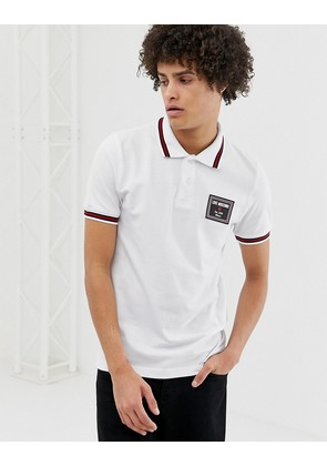 Love Moschino tipped polo shirt with chest placket