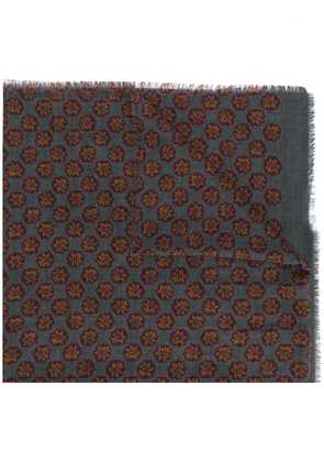 Barba printed scarf - Grey