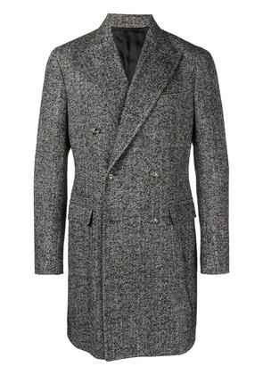 Barba formal knit coat - Grey
