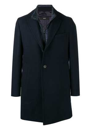 Boss Hugo Boss single-breasted overcoat - Blue