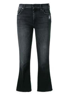 7 For All Mankind cropped bootcut jeans - Black