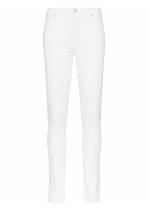 Gucci high waist logo patch skinny jeans - White