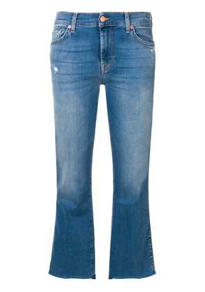 7 For All Mankind cropped flared trousers - Blue