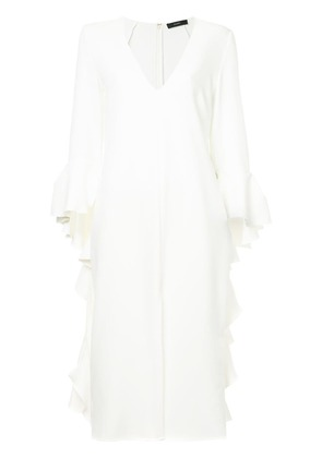 Ellery Reuben frill sleeve dress - White