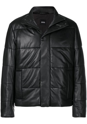 Boss Hugo Boss quilted buttoned jacket - Black