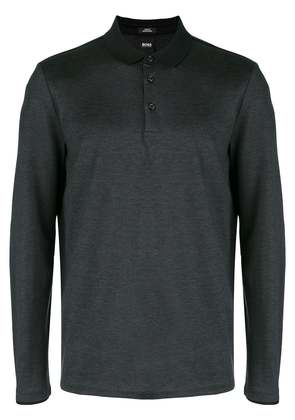 Boss Hugo Boss long-sleeve polo top - Black