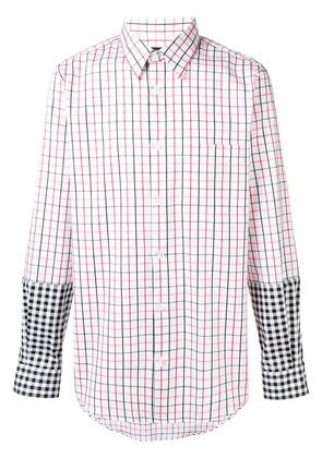 Stella McCartney contrast checked shirt - White