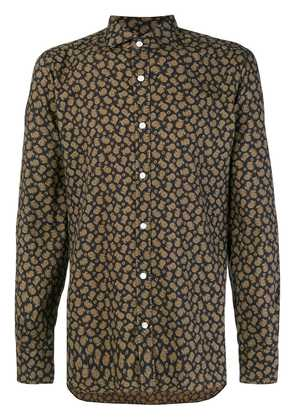 Barba paisley print shirt - Black