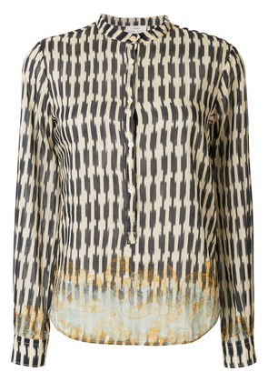 Forte Forte faded floral print shirt - Blue