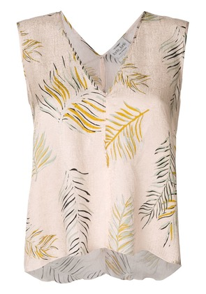 Forte Forte sleeveless floral blouse - Neutrals