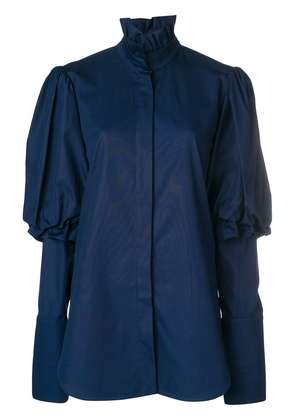 Ellery Rancho puff sleeve shirt - Blue