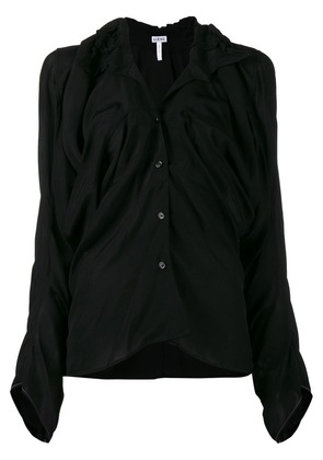 Loewe Shirt with Gathered Front - Black