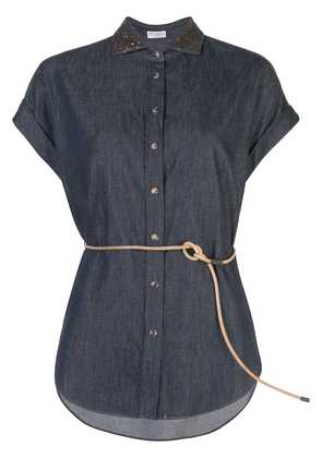 Brunello Cucinelli denim button down shirt - Blue