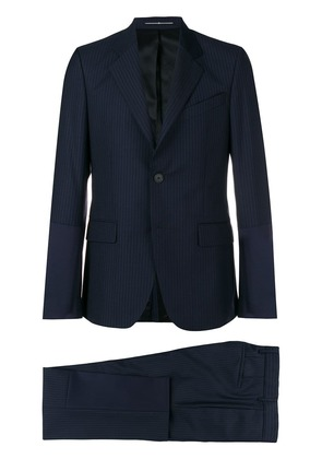Givenchy textured stripe suit - Blue