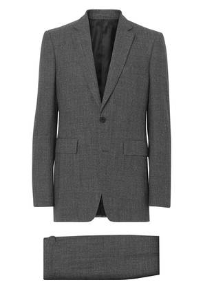 Burberry Classic Fit Melange Wool Three-piece Suit - Grey