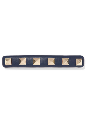 Valentino - Valentino Garavani The Rockstud Leather Hairclip - Blue