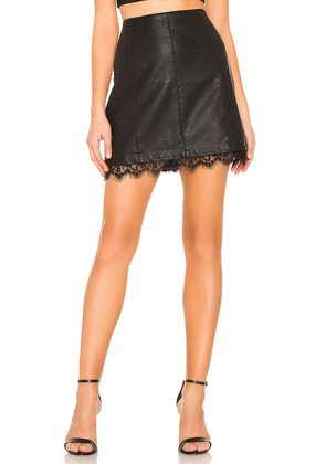 Waiting For Tonight Faux Leather Skirt