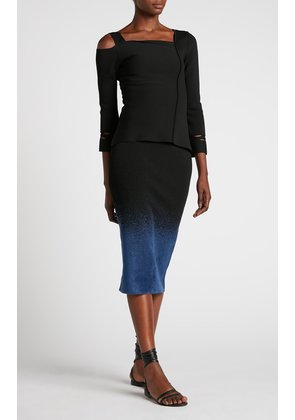 Terry Skirt - S / Denim Blue/ Black