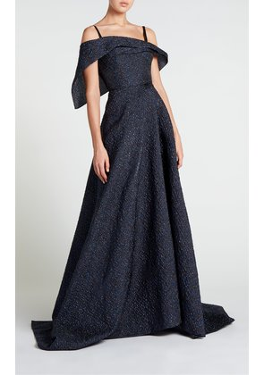 Harswell Gown - 12 / Navy Metallic