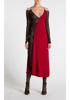 Clements Dress - 8 / Crimson/Black