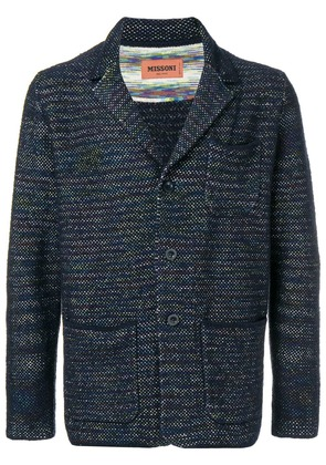 Missoni embroidered fitted blazer - Blue