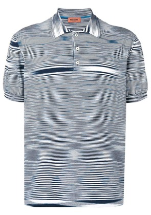 Missoni striped short-sleeve polo top - Blue