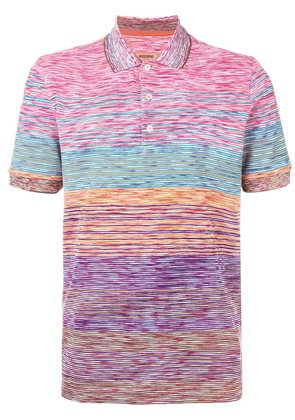 Missoni colour-block polo top - Pink