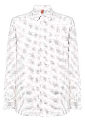 Missoni embroidered long-sleeve shirt - White