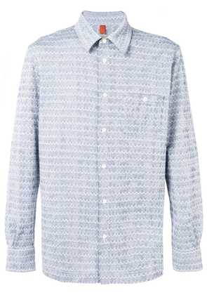 Missoni embroidered fitted shirt - Blue