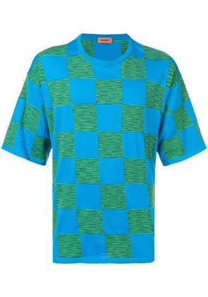 Missoni contrast check T-shirt - Blue
