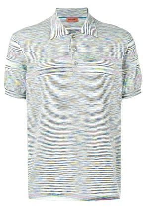 Missoni striped short-sleeve polo top - Multicolour