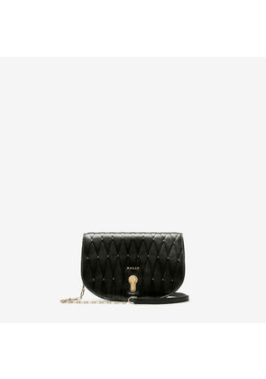 Bally Clayn Black, Women's quilted calf leather minibag in black