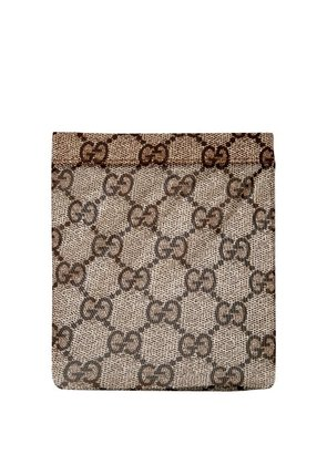 Gucci - Gg Snake Print Tights - Womens - Brown Multi
