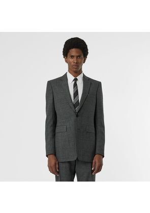 Burberry Classic Fit Melange Wool Three-piece Suit, Grey