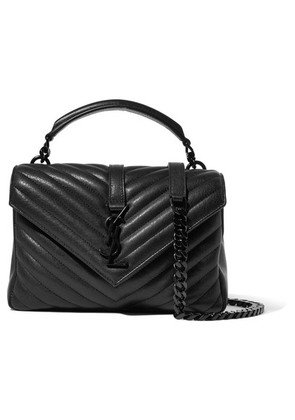 Saint Laurent - College Medium Quilted Leather Shoulder Bag - Black