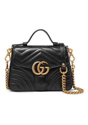 Gucci - Gg Marmont Mini Quilted Leather Shoulder Bag - Black