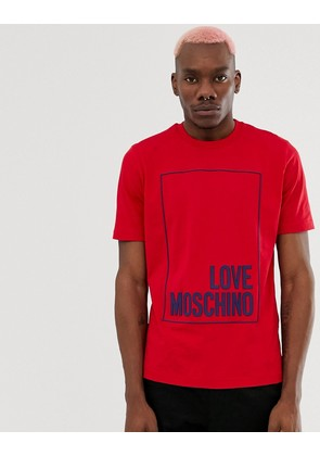 Love Moschino T-Shirt in Red With Logo Print