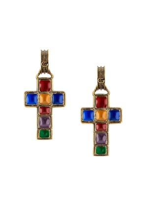 Gucci Earrings with cross pendant - Gold