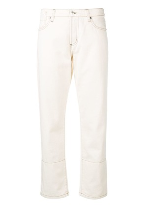 Marni contrast stitched panel jeans - White