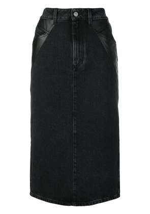 Givenchy denim midi pencil skirt - Black