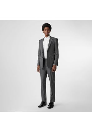 Burberry Classic Fit Sharkskin Wool Suit, Grey