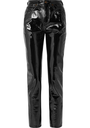 Saint Laurent - Vinyl Slim-leg Pants - Black