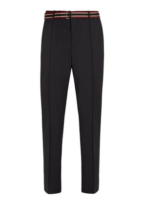 Valentino - Tailored Wool Blend Trousers - Mens - Grey